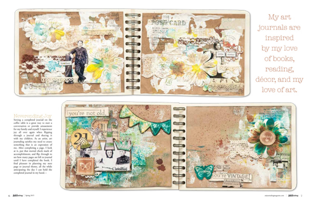 Art Journaling Spring 2015