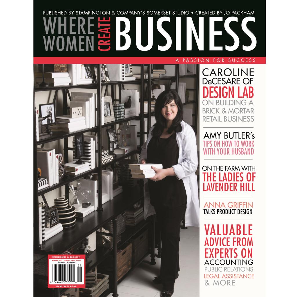 Where Women Create BUSINESS Winter 2013