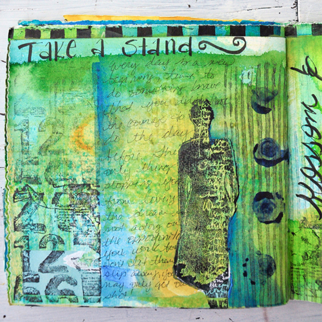 With One Palette Journal Project by Pam Carriker