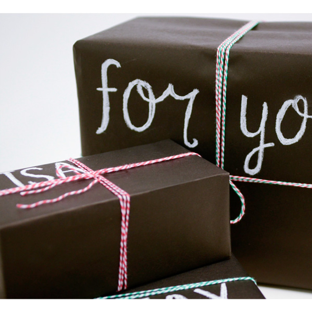 Chalkboard Gift Wrap Inspiration Project