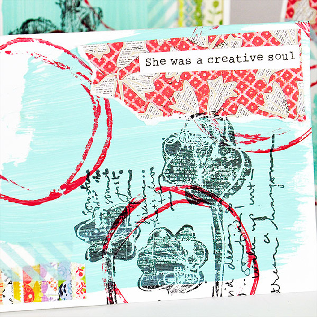 She Art Collage Cards Project