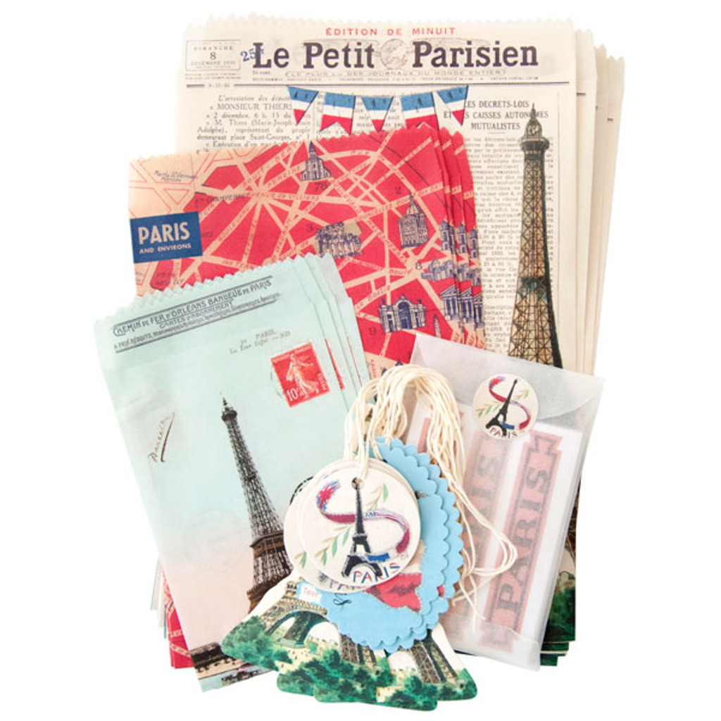 Cavallini & Co. Petite Parcel Stationery Set - Vintage Paris