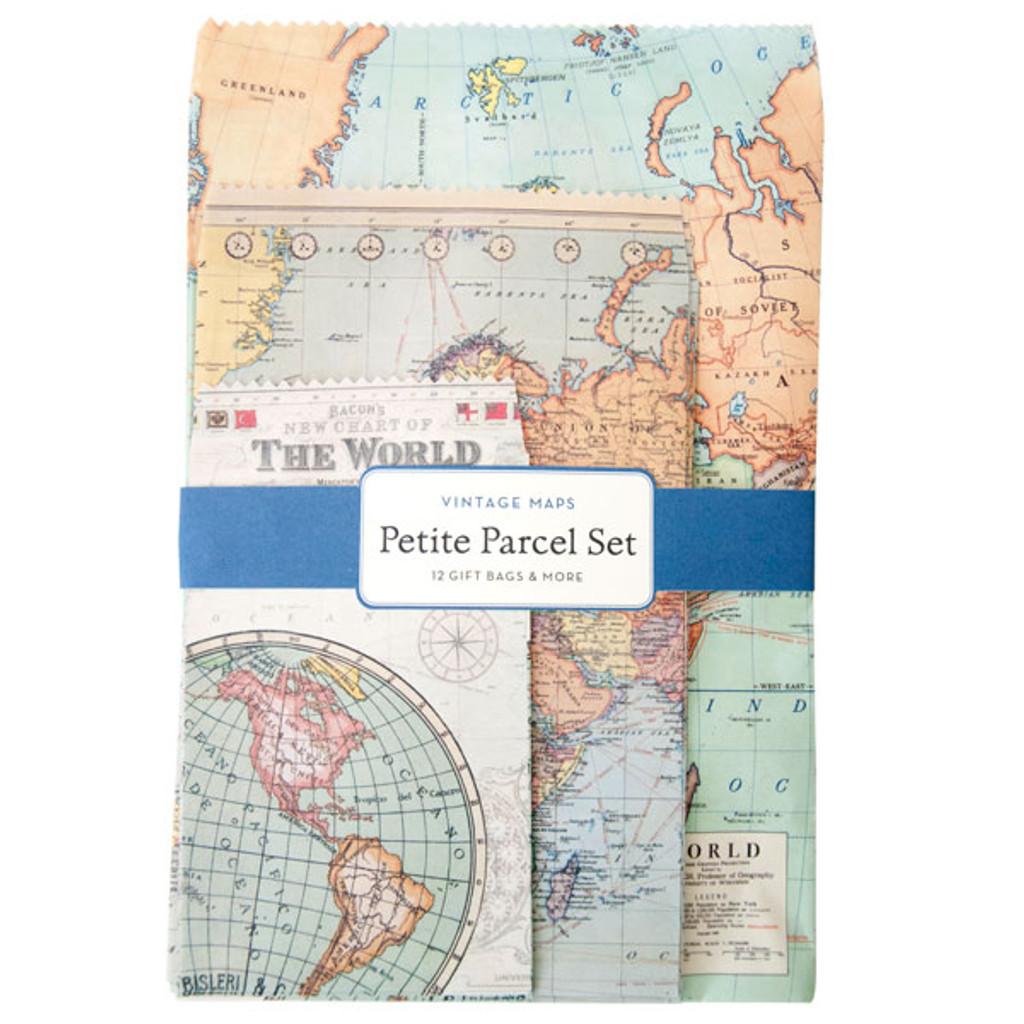 Cavallini & Co. Petite Parcel Stationery Set - Vintage Maps