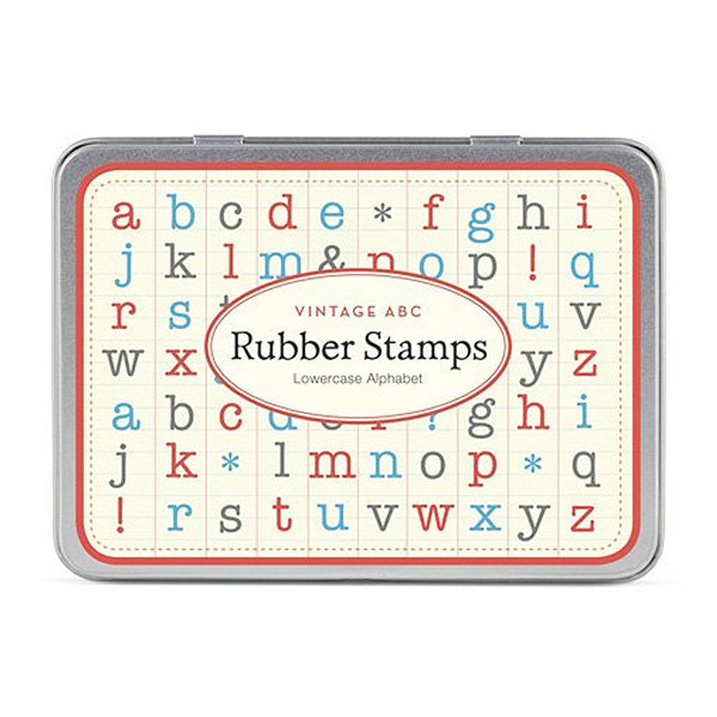 Cavallini & Co. Mini Rubber Stamp Set — Mini Lowercase Alphabet