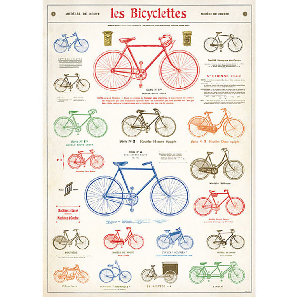 Cavallini & Co. Decorative Wrap - Les Bicyclettes