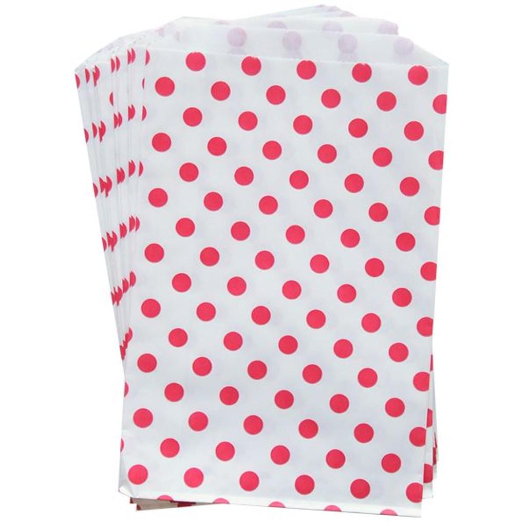 "Polka Dot Bigger Bitty Bags Red 6.25"" x 9.25"""