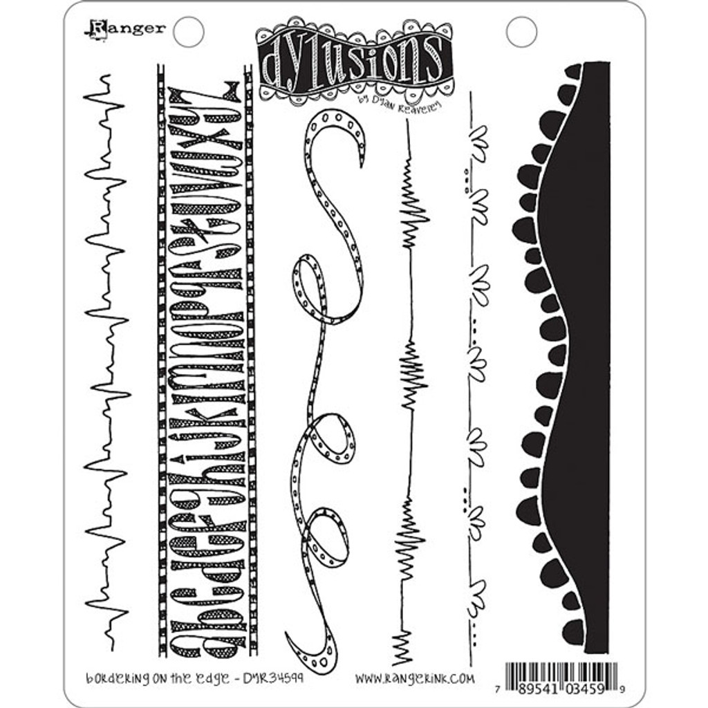 Ranger Ink Dylusions Cling Mount Stamps — Bordering on the Edge by Dyan Reaveley