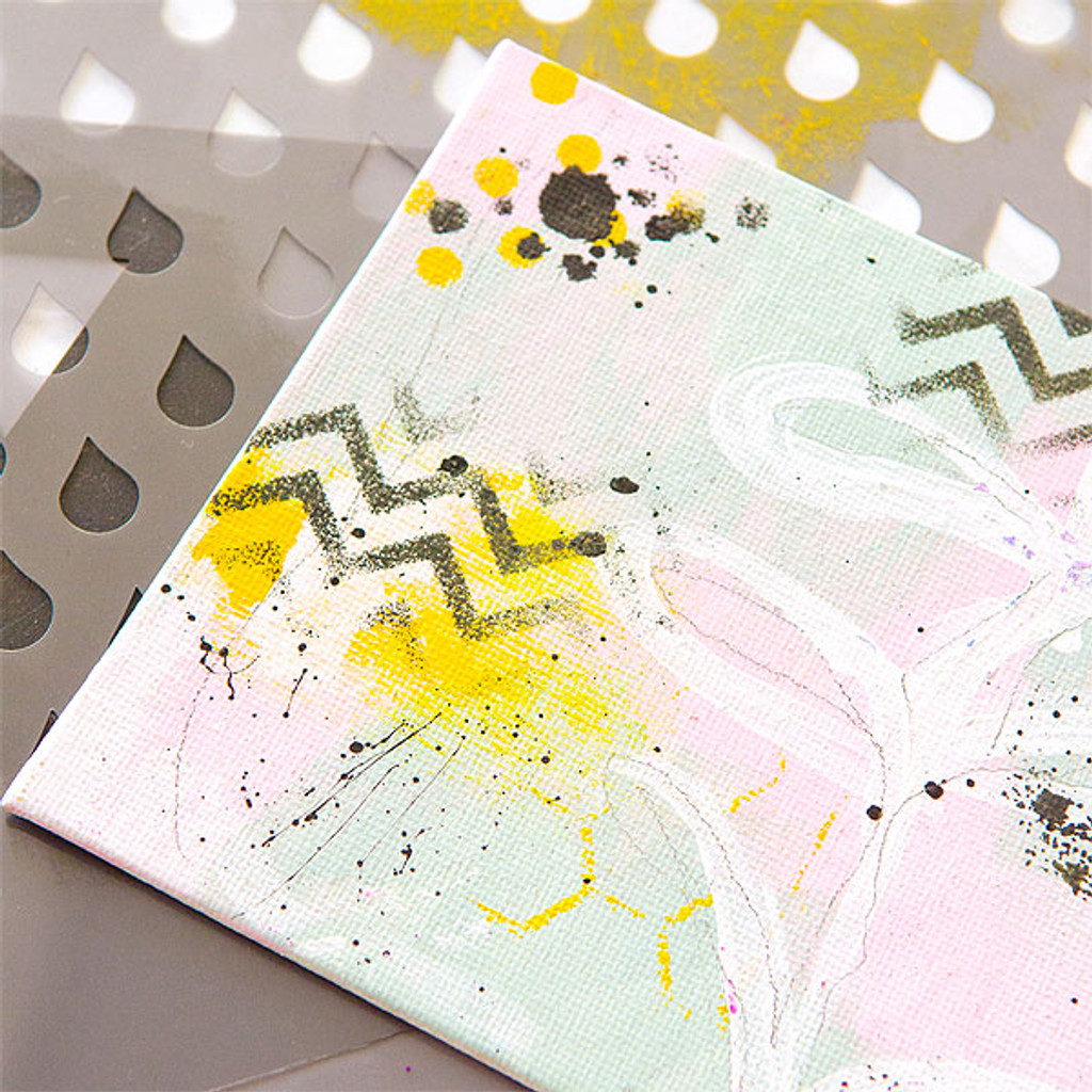 Stencilicious: Techniques to Try by Christen Olivarez