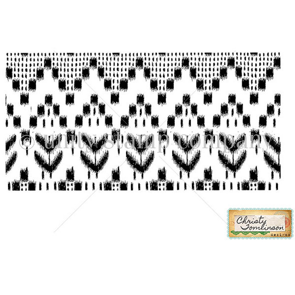 Unity Stamp Christy Tomlinson Cling Mount Stamp - Ikat Love