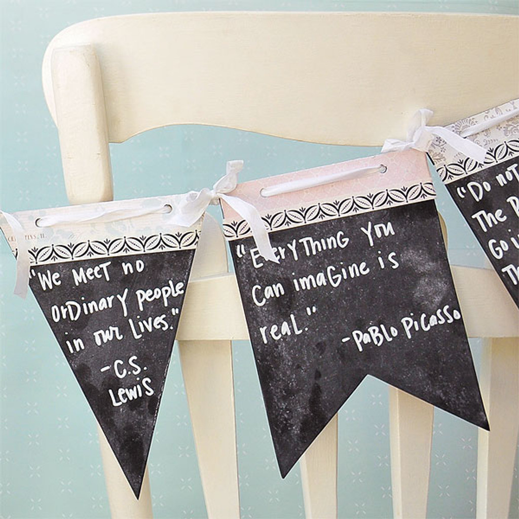 Chalkboard Quote Banner Project
