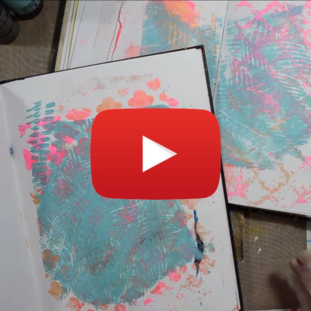 Gelli Plate Printing Video by Samantha Kira Harding