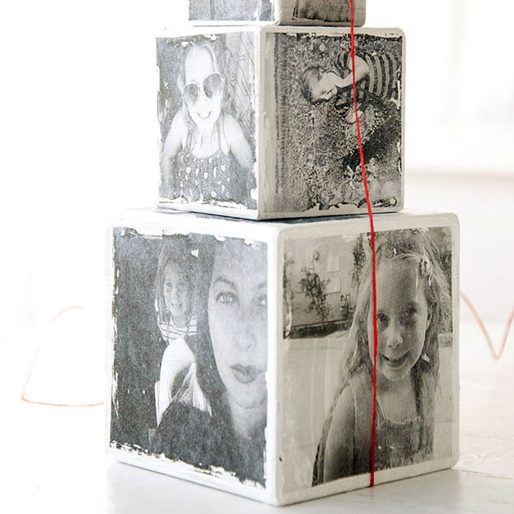Instagram Wood Photo Blocks Transfer Project