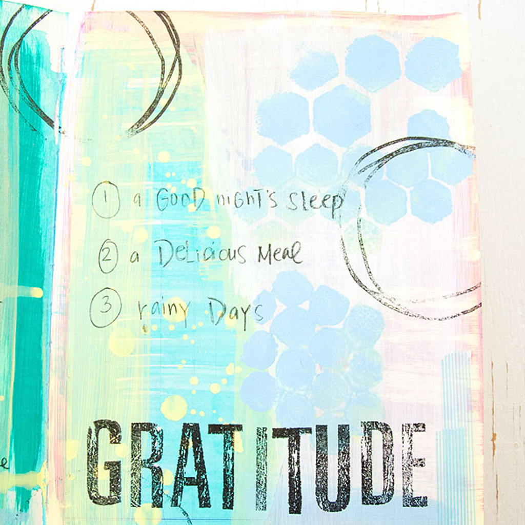 Gratitude Art Journal Page Project