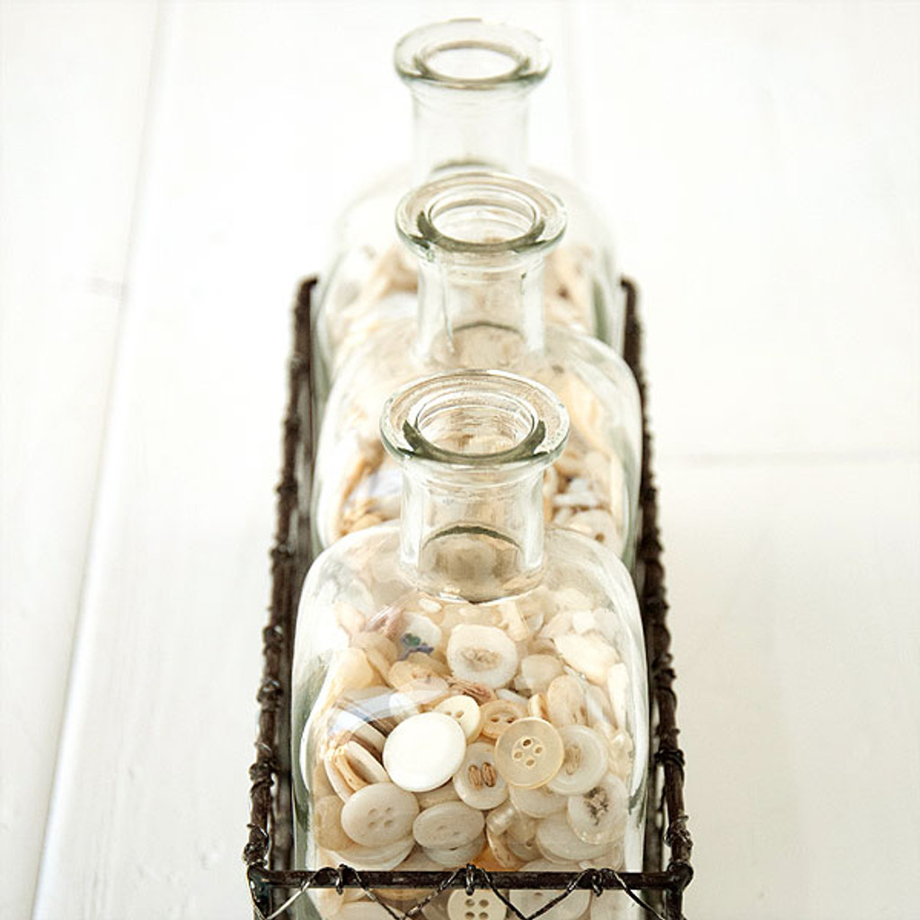 Vintage Buttons and Bottles Storage Project
