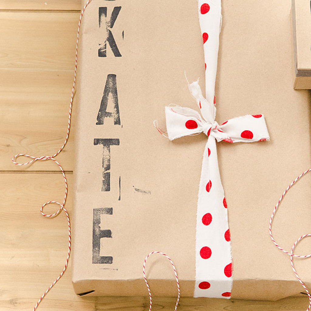Custom Chalkboard and Kraft Paper Gift Wrap by Christen Olivarez