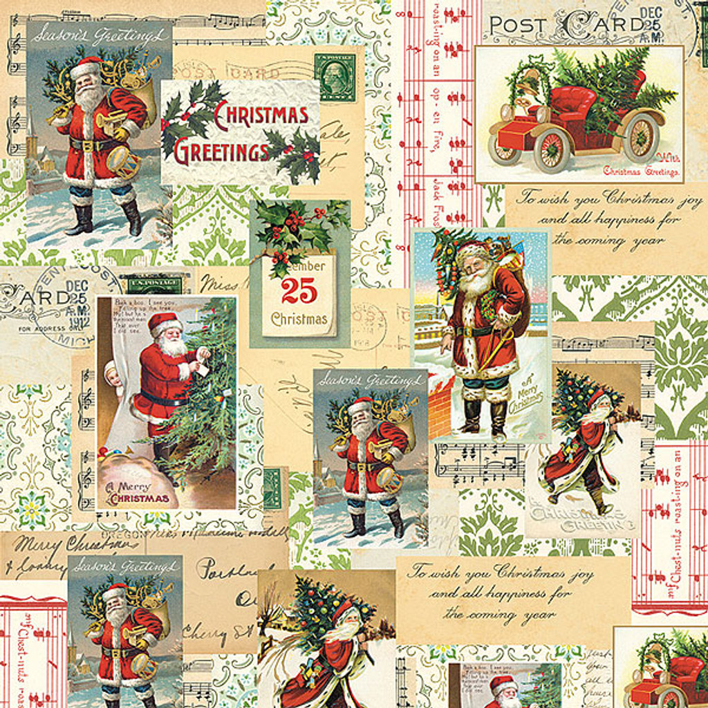 Cavallini & Co. Decorative Wrap — Holiday Santa