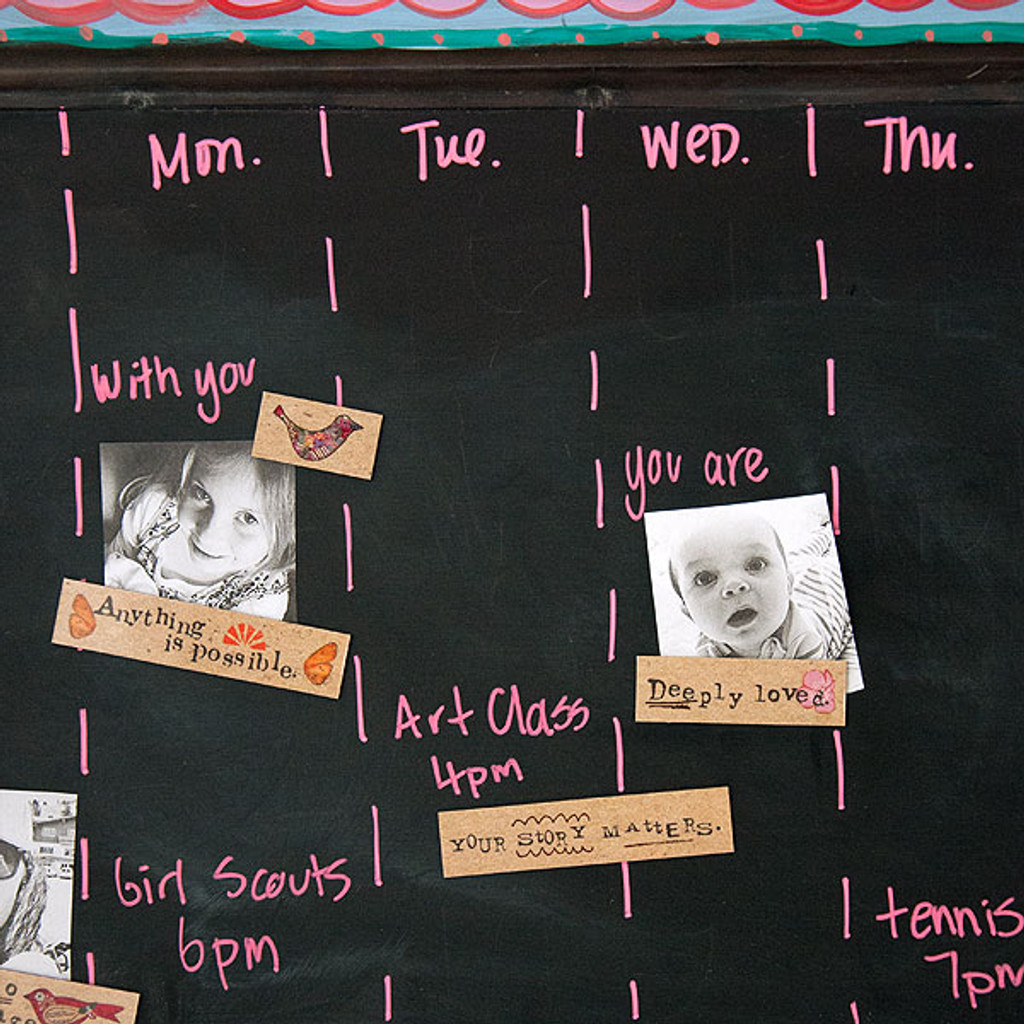 Days of the Week Magnetic Board Project