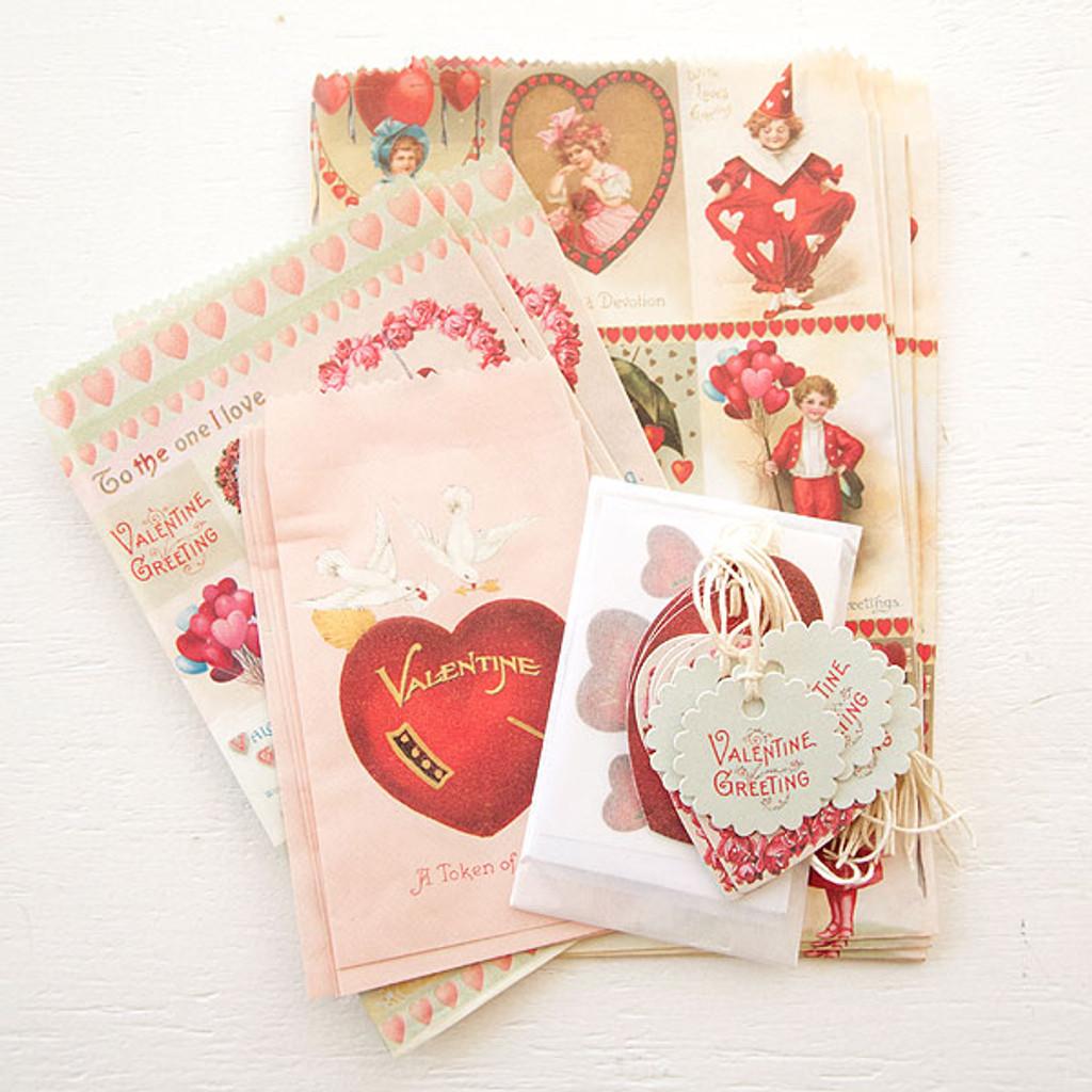 Cavallini & Co. Petite Parcel Set — Victorian Valentines