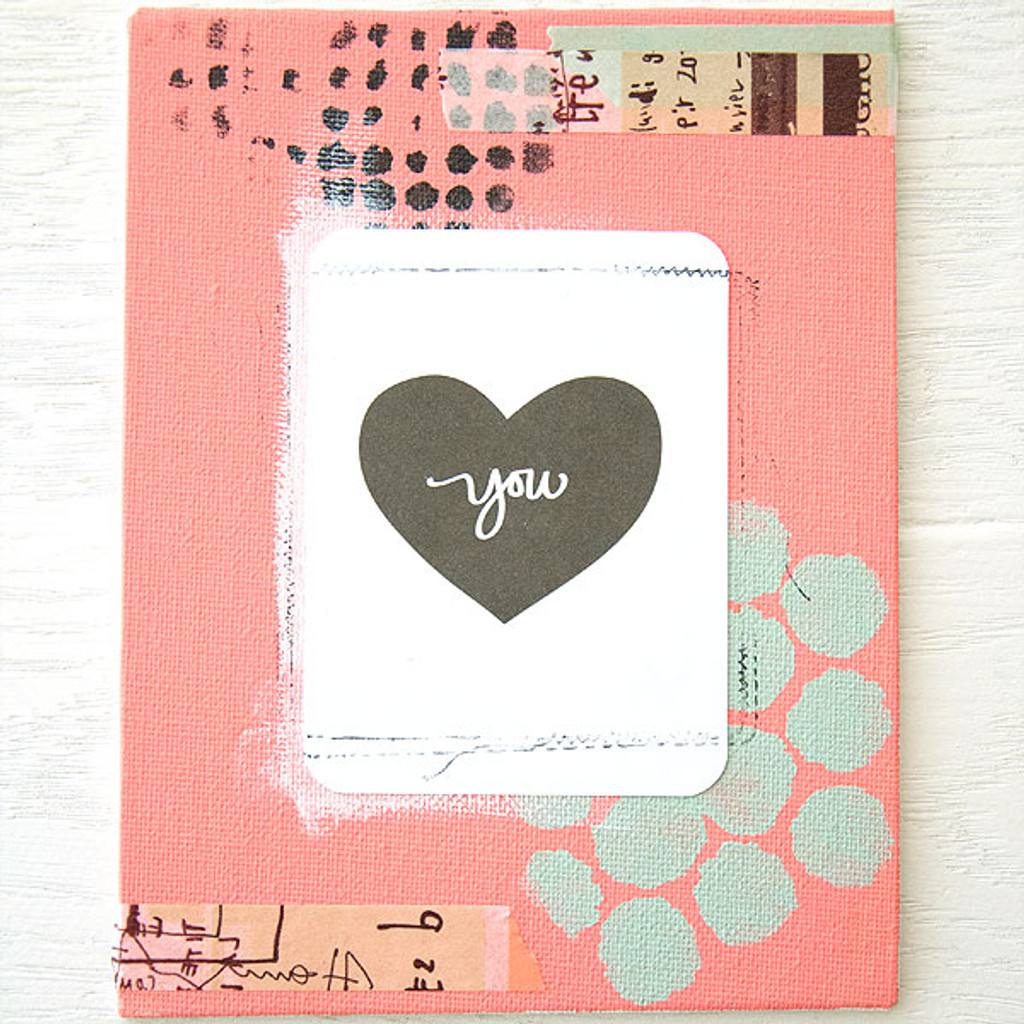 Mixed-Media Love Canvases Project