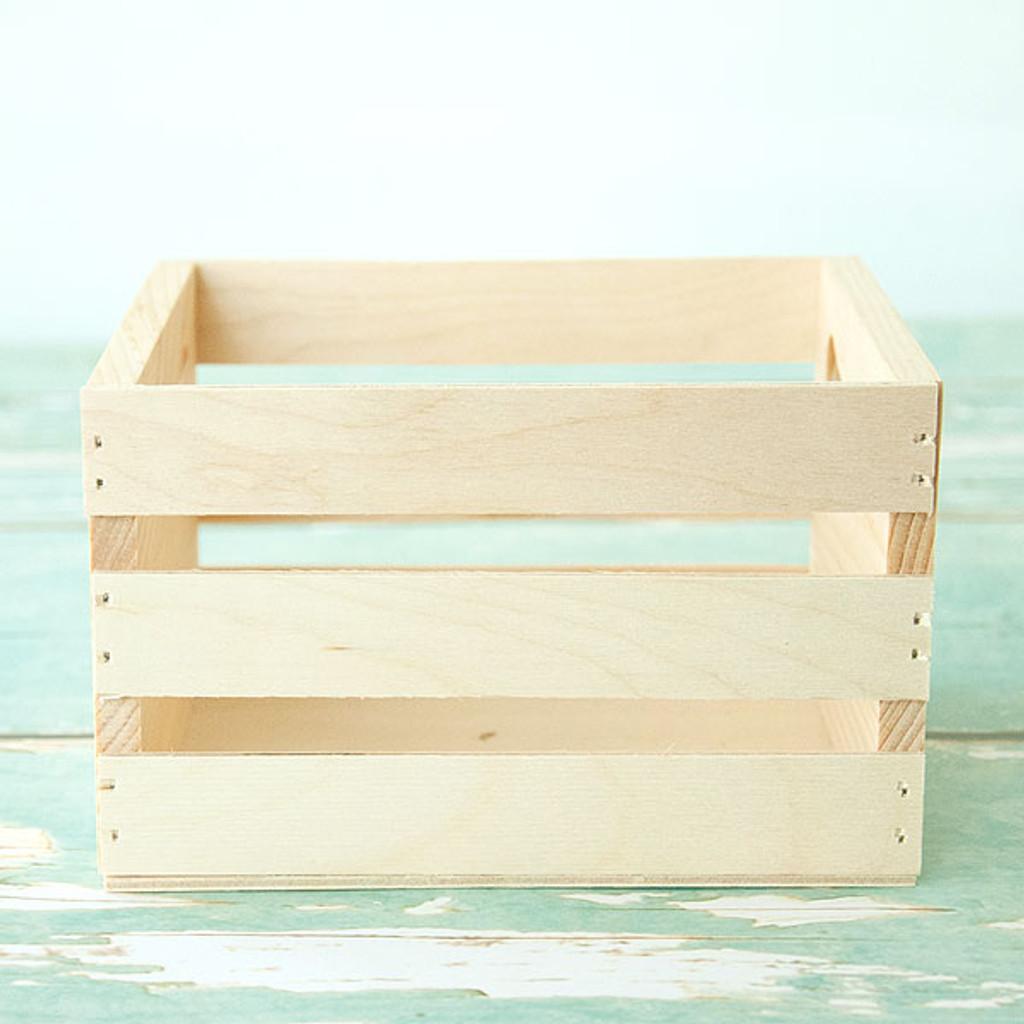 Mini Wood Crate