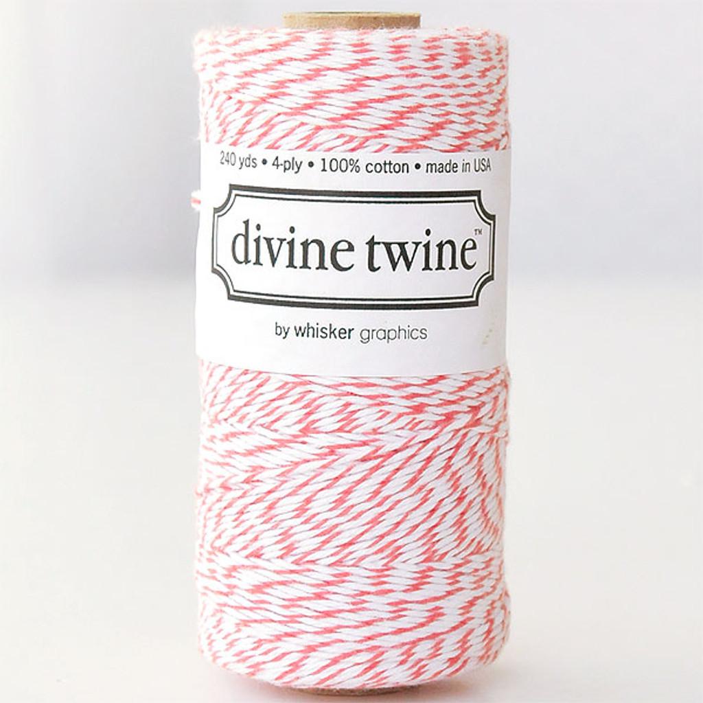 Divine Twine Baker's Twine — Coral