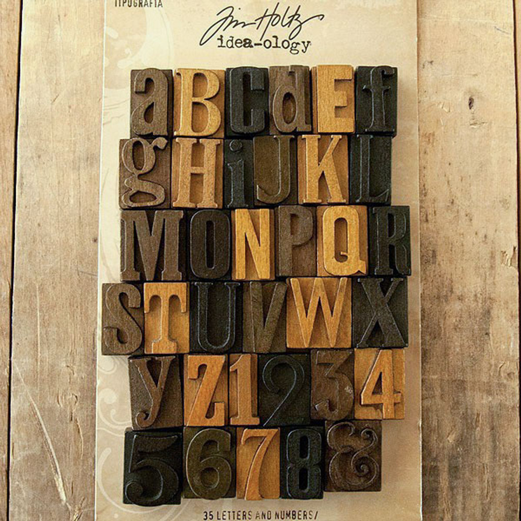 Advantus Tim Holtz Idea-ology Letterpress Blocks