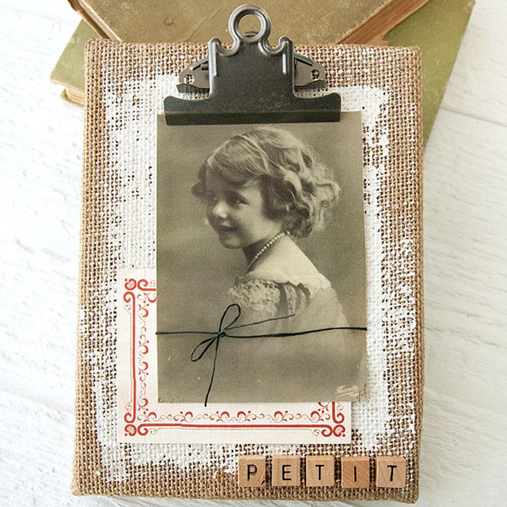 Vintage Burlap Canvas Project
