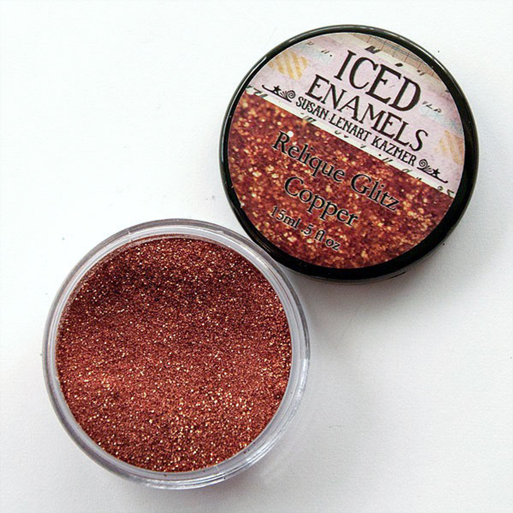 Iced Enamels Glitz Copper Relique Powder by ICE Resin — 15ml