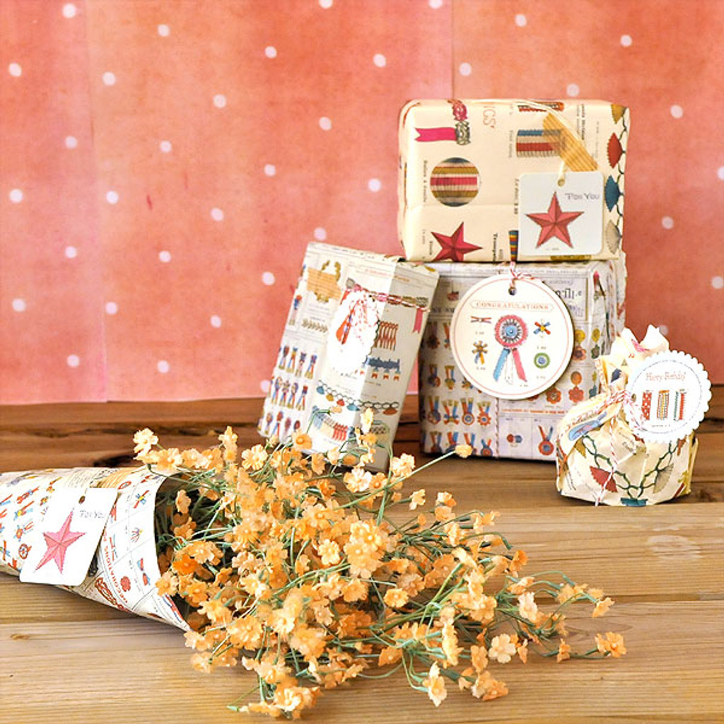 Vintage Birthday Gift Wrap Project