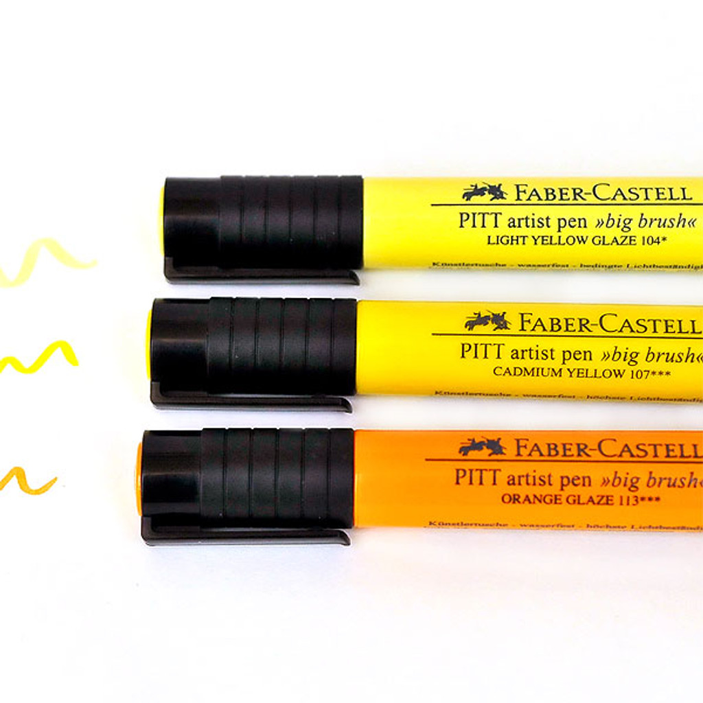 Faber-Castell Mix & Match Stamper's Big Brush Pen Set Yellow