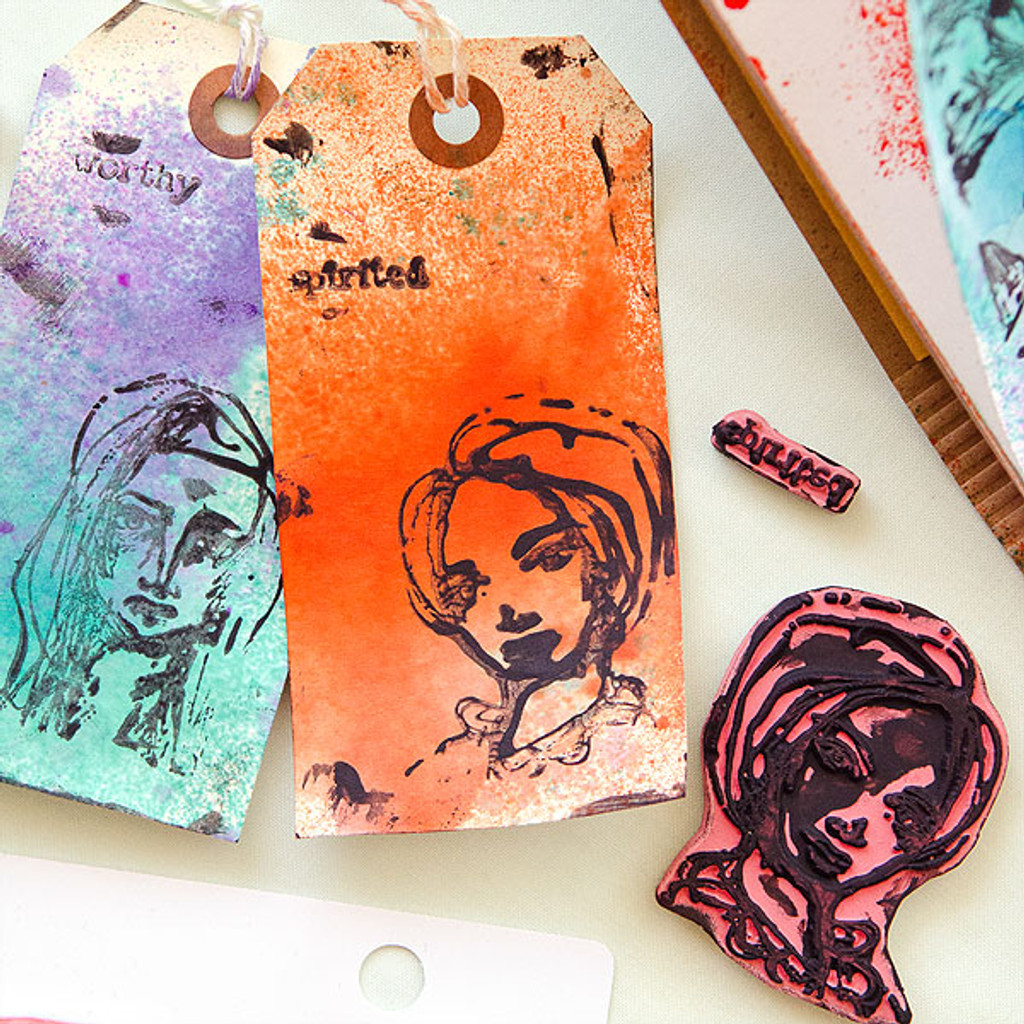 Making Marks with Dina Wakley Project by Christen Olivarez