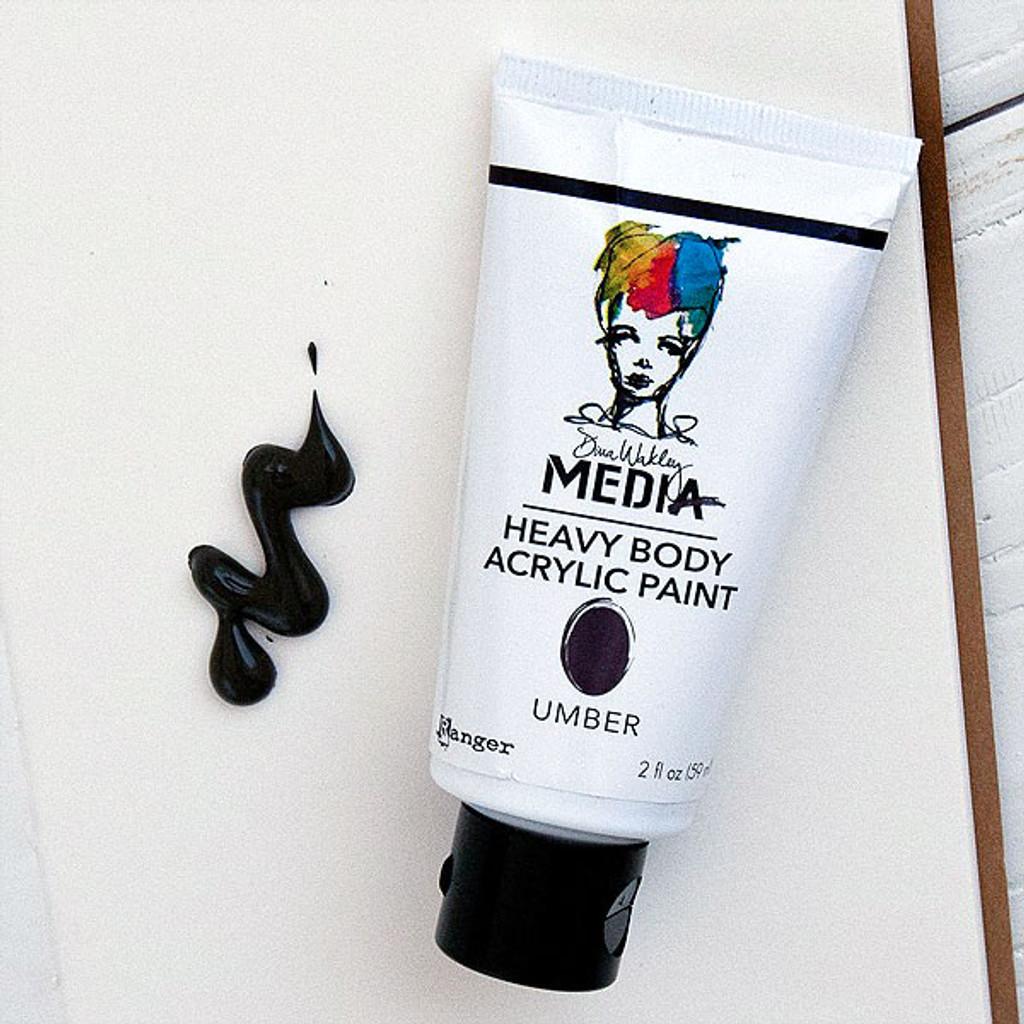 Ranger Ink Dina Wakley Media Heavy Body Acrylic Paint — Umber