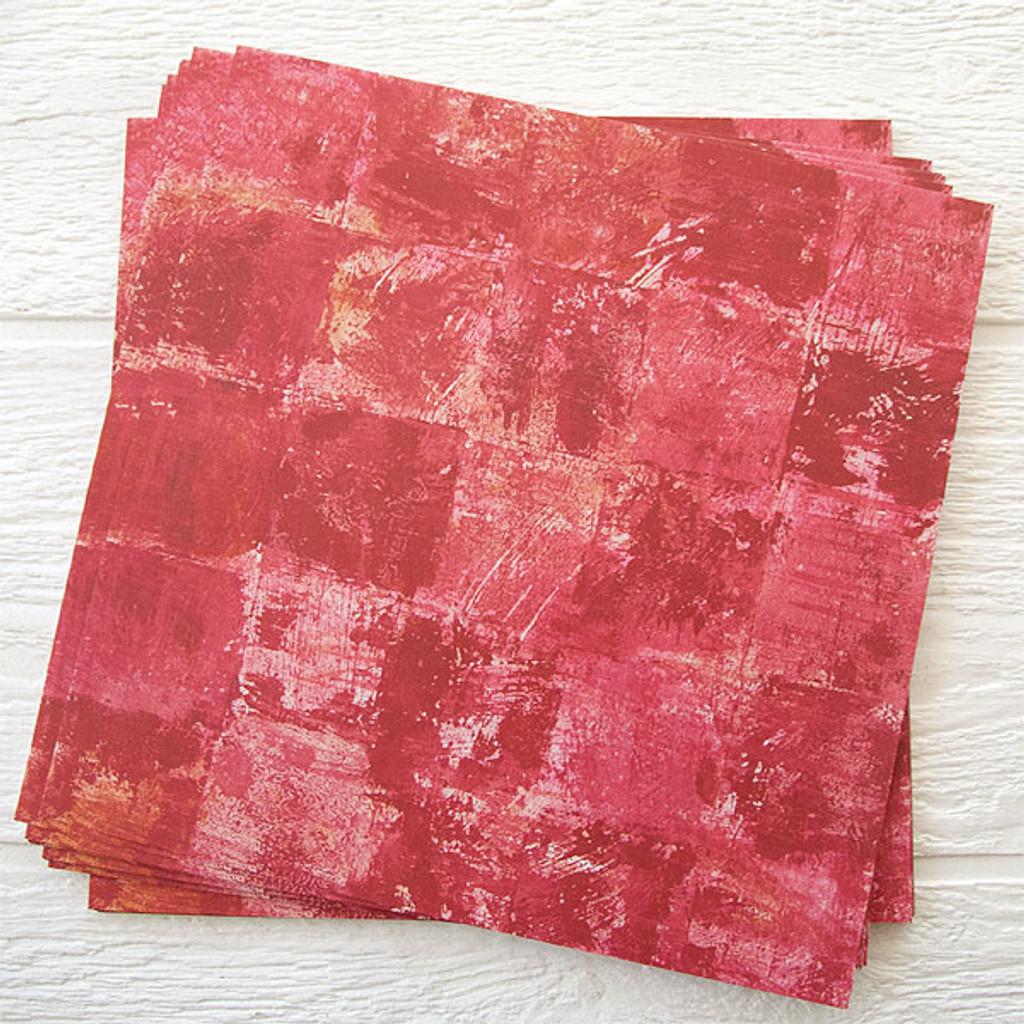 Lynne Perrella Artist Paper Solid Scarlet 50 pack