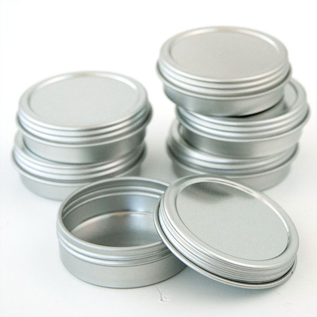 Flat Screw Top Tins 1 oz —œ Kit of 6