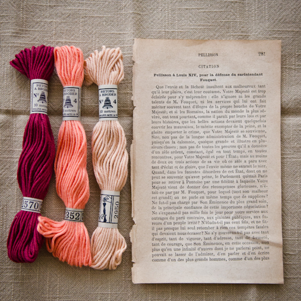 The Embroideress Bundle in Rose Garden