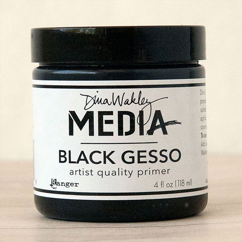Ranger Ink Dina Wakley Black Media Gesso - 4 oz Jar