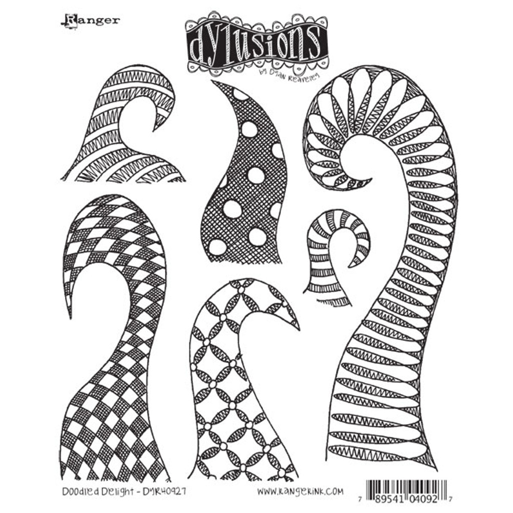 Ranger Ink Dylusions Cling Mount Stamp — Doodled Delight by Dyan Reaveley