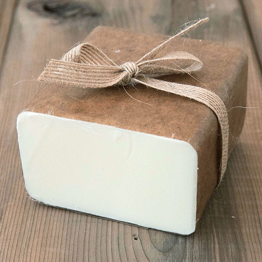 Goat's Milk Soap Base — 1 lb Wrapped Bar