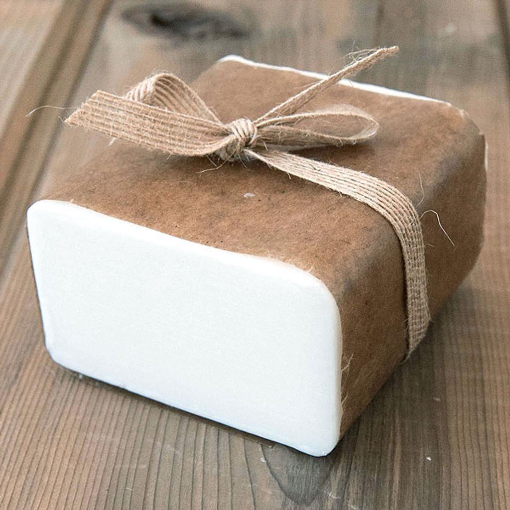 Shea Butter Soap Base — 1 lb Wrapped Bar