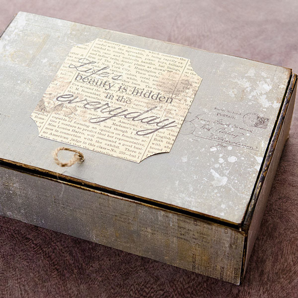 Stationer's Desk Altered Vintage Cigar Box Project