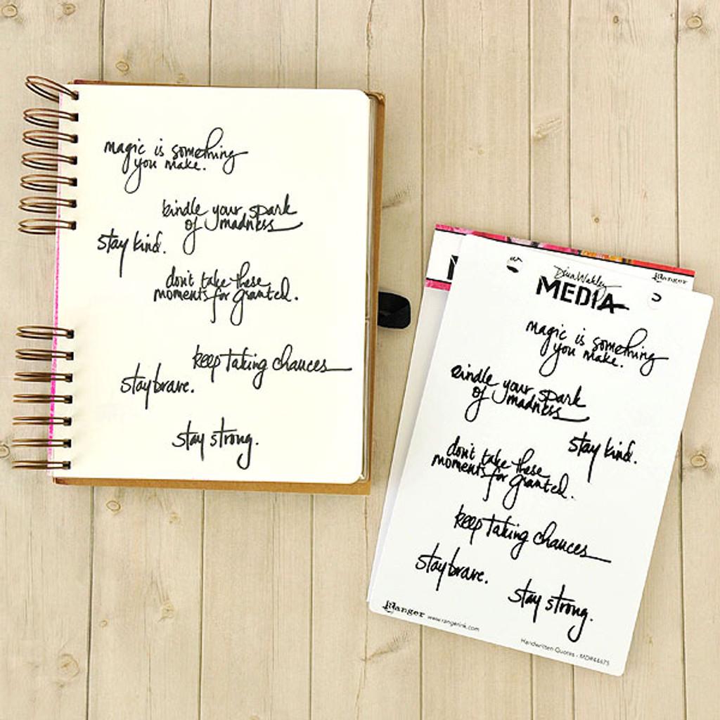 Ranger Ink Dina Wakley Media Stamps — Handwritten Quotes