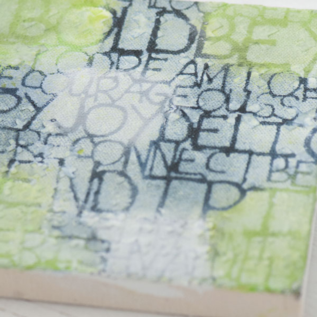 Stenciled to Inspire Canvas Project