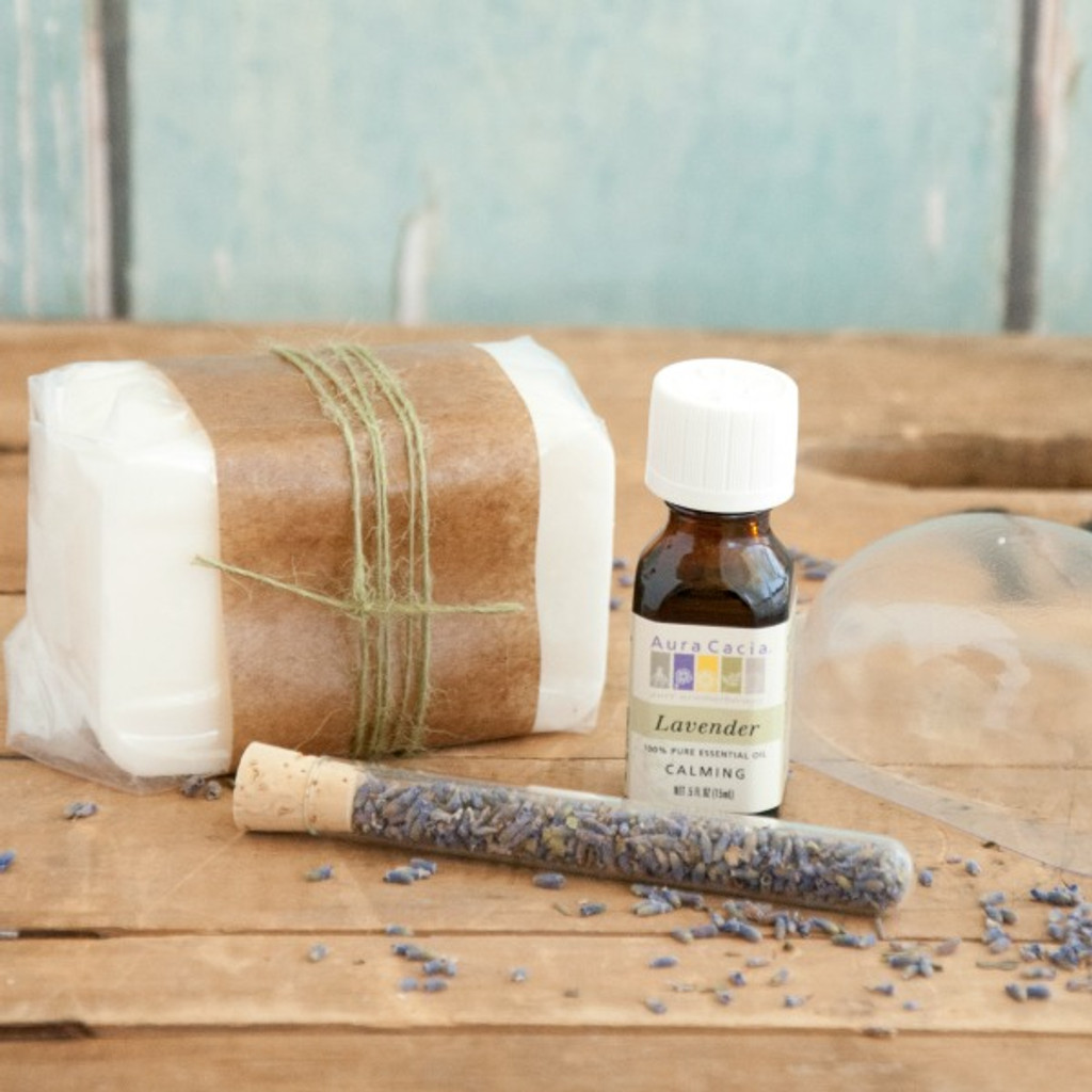 Easy Melt and Pour Lavender Soap—Making Kit