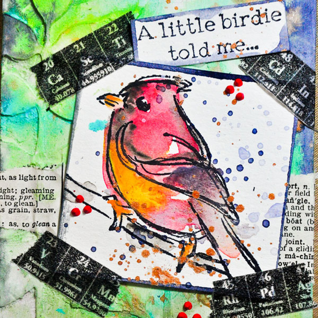 A Little Birdie Told Me Project by Dina Wakley