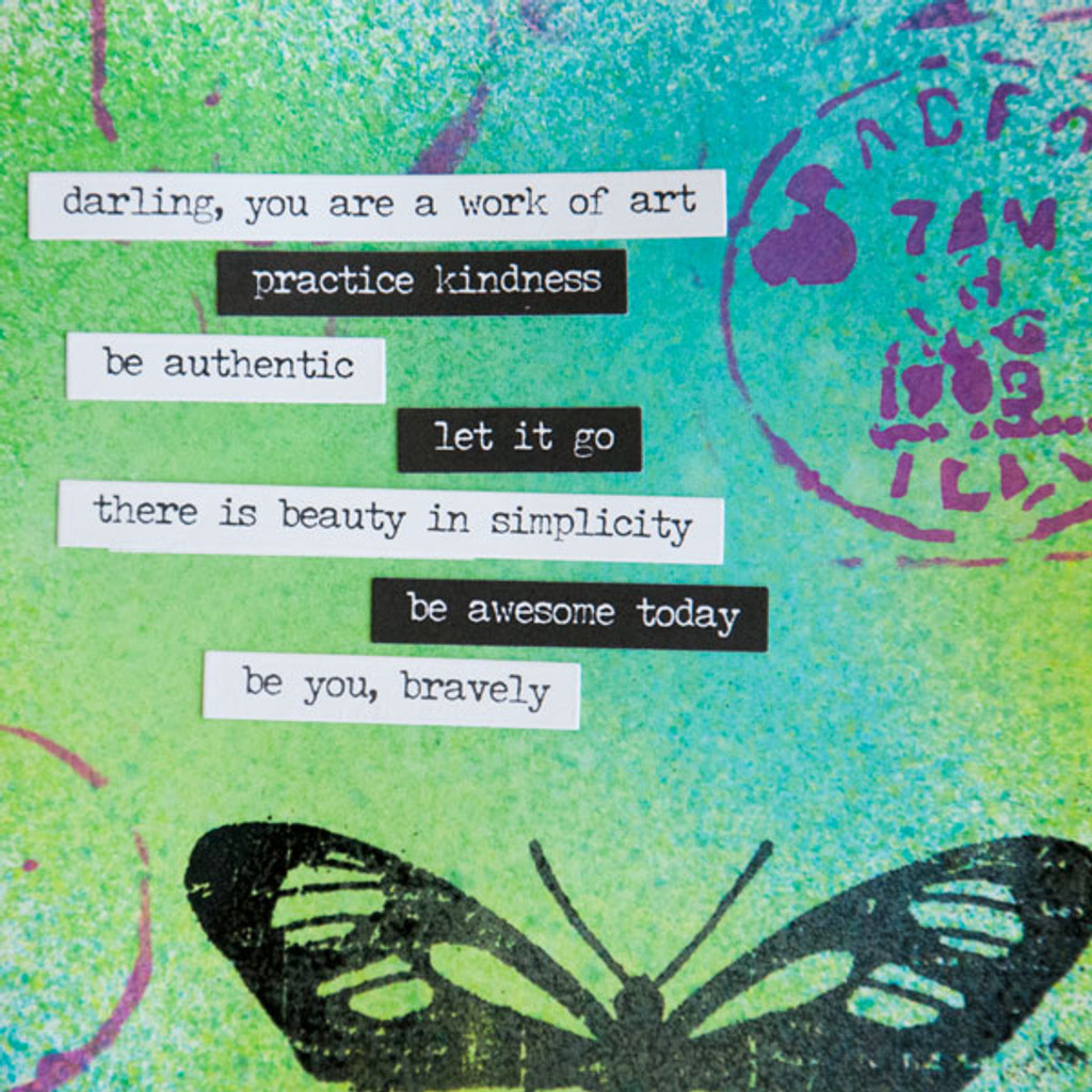 Be You, Bravely Art Journal Page Project
