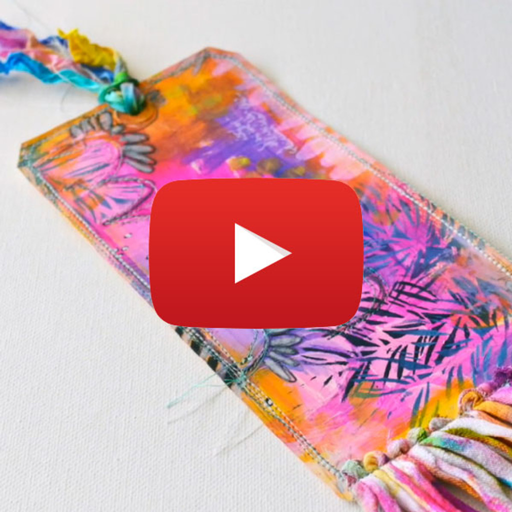 Stitched and Stenciled Tag Art Video by Rae Missigman
