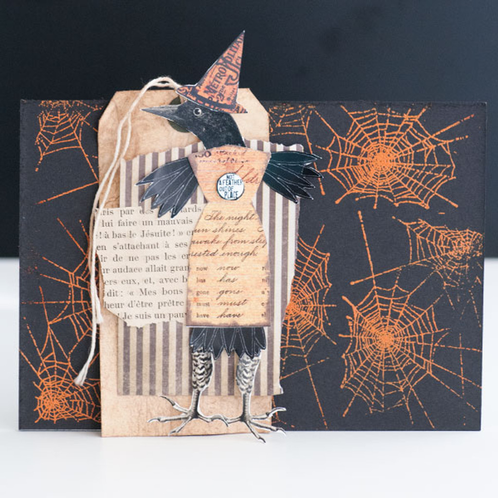 Layered and Embossed Quirky Bird Project