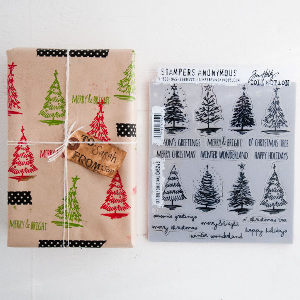 O Christmas Tree— Stamped and Embossed Wrapping Paper Project