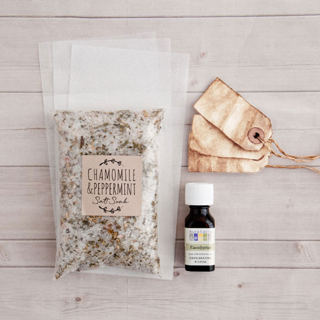 DIY Chamomile and Peppermint Salt Soak Kit
