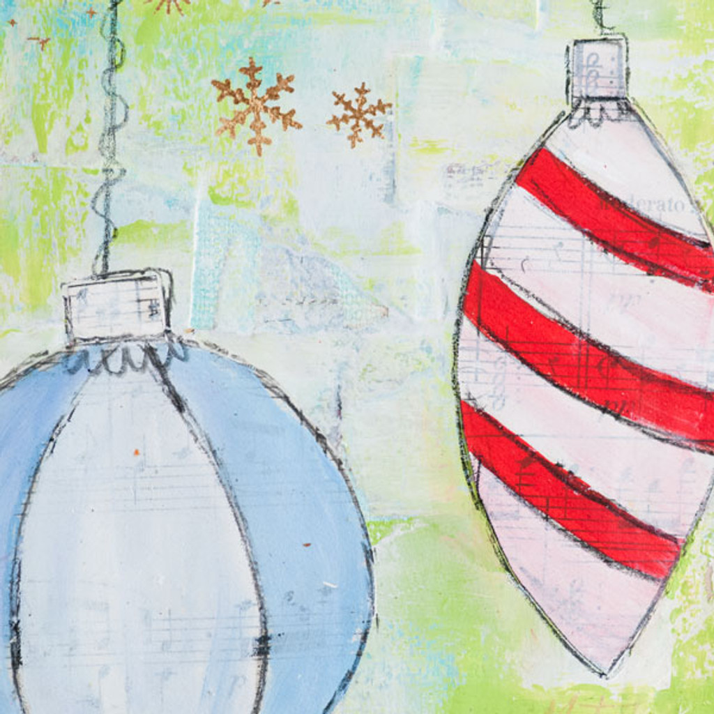 Merry & Bright Holiday Mixed-Media Project